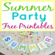 Summer Party Decor with Free Printables