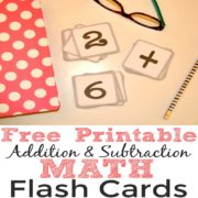Free Printable Addition and Subtraction Math Flash Cards