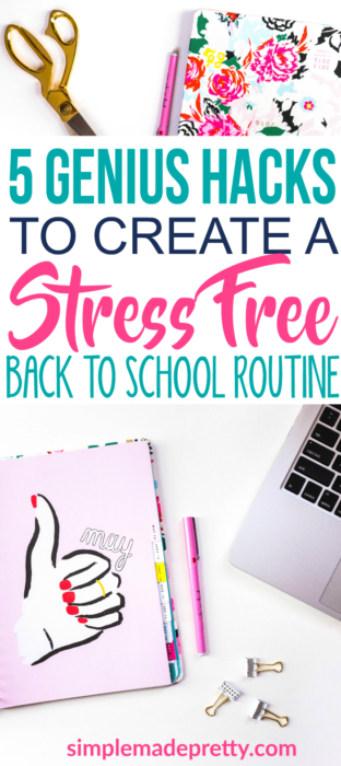 These back to school routine ideas are for parents and kids. Create a stress free routine and systems to help you with back to school routines and procedures. The back to school bulletin board and calendar idea is genius! Plus she has a free printable back to school checklist for parents!