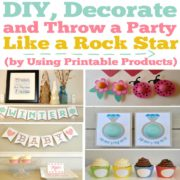 DIY, Decorate and Throw a Party Like a Rock Star (by Using Printable Digital Products)