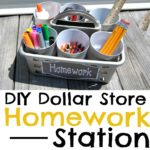 Dollar Store Portable Homework Station DIY