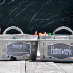 Dollar Tree Portable Homework Station DIY
