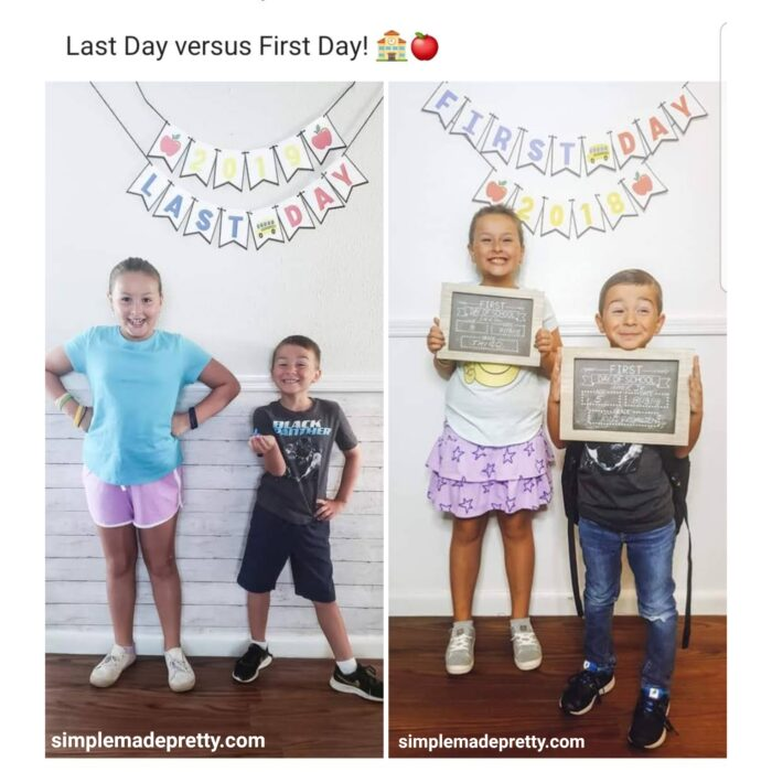 First Day and Last Day of School Signs Free Printable