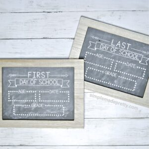 First and Last Day of School Chalkboard SIgns Free Printable