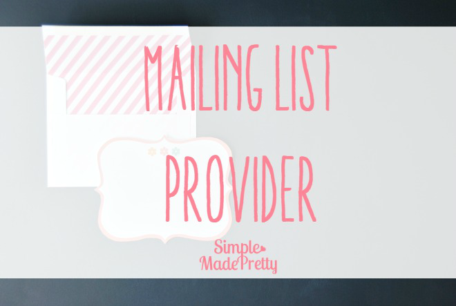 Choose a mailing list provider for your new blog!