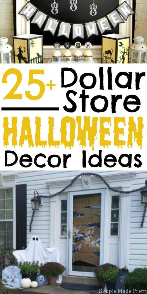 Get your Creep On! Here's a round up of 25+ Halloween Decor Ideas from the Dollar Store! Halloween decor, Halloween, Frugal Halloween decor, Cheap Halloween decor, DIY Halloween