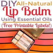 DIY All-Natural Lip Balm with Essential Oils