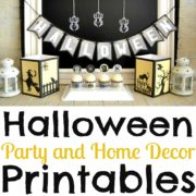 Halloween Party and Home Decor Printable Package