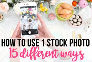 Stock photos can be expensive so in this article, I show how to use 1 stock photo 15 different ways to use for your online business or blog marketing.