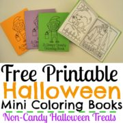 Free Printable Halloween Mini Coloring Books