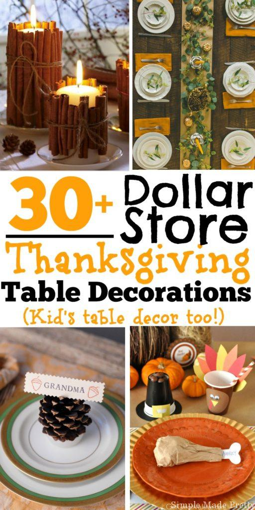 30 Diy And Dollar Store Thanksgiving Table Decorations