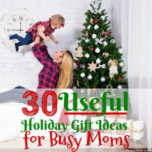 You will find at least one (or many) items on this list that you or the busy mom in your life will love. Here are 30 useful holiday gift ideas for busy moms!