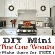 DIY Mini Pine Cone Wreaths