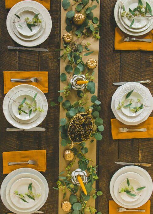 Dollar Store Thanksgiving Table Setting Idea