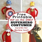 Free Printable Elf on the Shelf Superhero Costumes