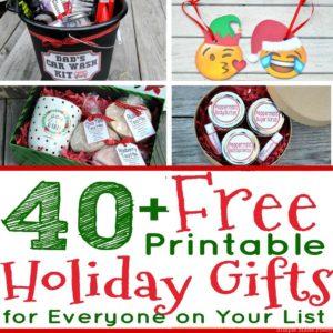 40+ Free Printable Holiday Gifts for Everyone on Your List! DIY holiday gifts, Free printable Christmas gifts, DIY Christmas gifts, Make Christmas gifts, Christmas printables,