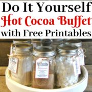 DIY Holiday Hot Cocoa Buffet with Free Printables