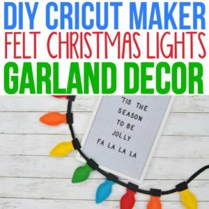 I love these bright colors! The free printable felt pattern was easy to make and added fun colorful Christmas decor to our home. I used my Cricut Maker Machine but you could use a Cricut Expore machine to make this craft project. Felt garland has been everywhere this holiday season and this was a fun DIY felt Christmas craft idea!