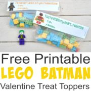 Free Printable Lego Batman Valentine Treat Toppers