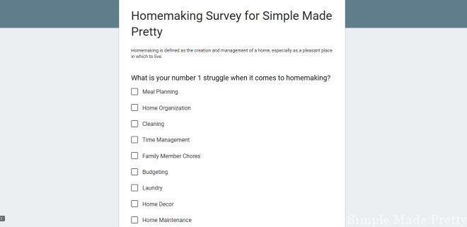 Google survey