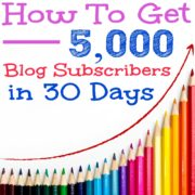 How To Get 5,000 Blog Subscribers in 30 Days