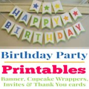 Printable Birthday Party Decorations for Girls or Boys