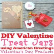 DIY Valentine Treat Jars using American Greetings Valentine's Day Products