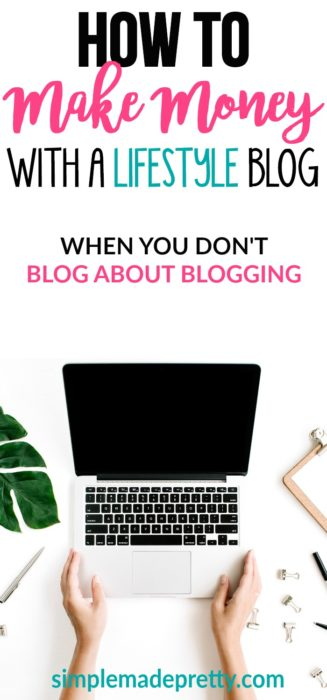 I never knew how easy it was to make money online. If you have a lifestyle blog idea, here are some ways that you can easily make a full-time income with your blog! You don't need to blog about blogging to make money online!
