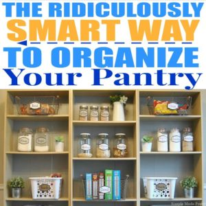 """The pantry is crucial to keep organized on a regular basis, food illnesses are no joke! There is also the issue of food waste, buying unnecessary items because you already had it in your pantry but forgot about it or it's pushed to the back and expired. According to World Food Day """"In the USA, 30-40% of the food supply is wasted, equaling more than 20 pounds of food per person per month."""" Let's try to reduce our food waste by eliminating food items we do not eat or care for. Here's How to Organize and Simplify Your Kitchen Pantry. Get organized, de-clutter, kitchen organization, organize the pantry, organized kitchen, pantry labels, free printable food labels, pantry jar labels, printable labels"""