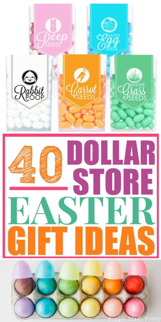 Check out these 40 DIY Dollar Store Easter Gift Ideas so you can save some money while giving something unique this year! Easter gift ideas, easter basket gift ideas, easter basket diy gifts, DIY easter basket gifts, dollar store easter gifts
