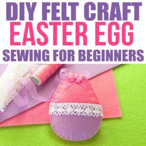 This DIY felt craft and sewing for beginners Easter egg is so cute! I can't wait to try this fun easy kids felt craft idea (and for adults!) This bunny would make a cure Easter basket gift idea that's inexpensive to make!