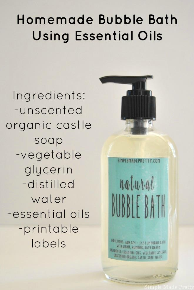 Homemade all natural bubble bath using essential oils for How to make bubbles liquid at home