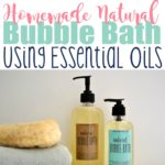 Essential Oil Bubble Bath DIY