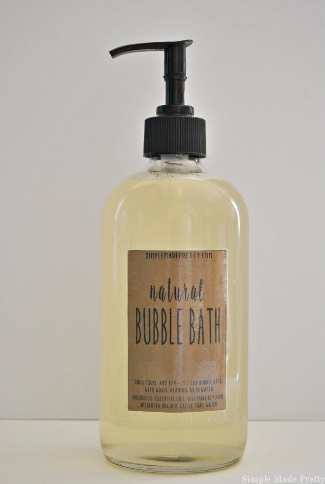 This Homemade All-Natural Bubble Bath Using Essential Oils will change the way you look at using toxic, chemical-filled bubble bath. This DIY all-natural skin care solution is made with essential oils and natural ingredients. If you like making handmade gifts or use essential oils (or are thinking about using them) keep reading for how to make an easy all-natural bubble bath to give to loved ones and use in your home. Download the labels below to create an easy handmade gift for the ladies in your life!