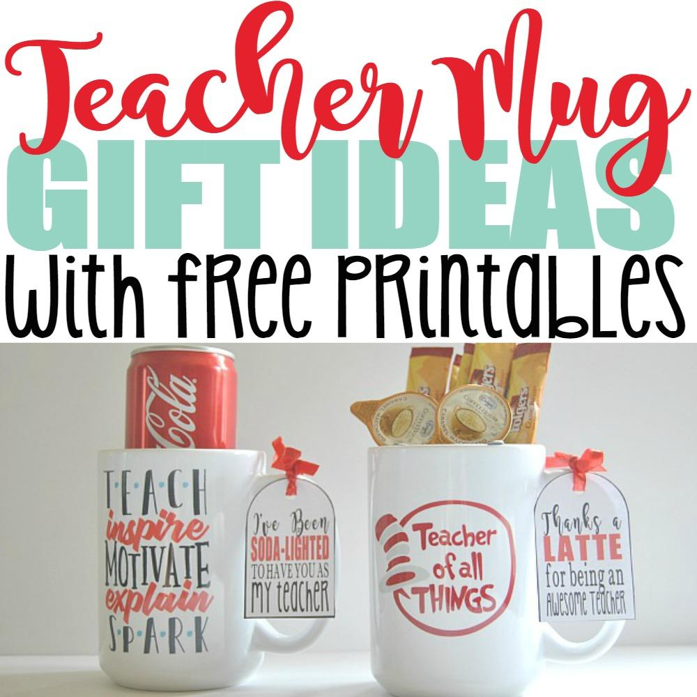 5 Genius DIY Teacher Mug Gift Ideas with Free Printables – Crazy Cool Mugs