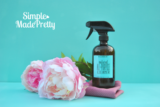 Find the ingredients for this all-purpose thieves essential oil cleaner and get the free printable labels