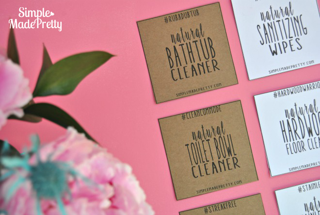 Download these printable labels to attach to your homemade cleaning products!