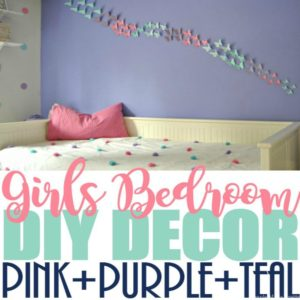 Girls Bedroom Decor with a Purple, Pink, and Teal Theme