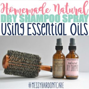 Homemade All-Natural Dry Shampoo Spray Using Essential Oils