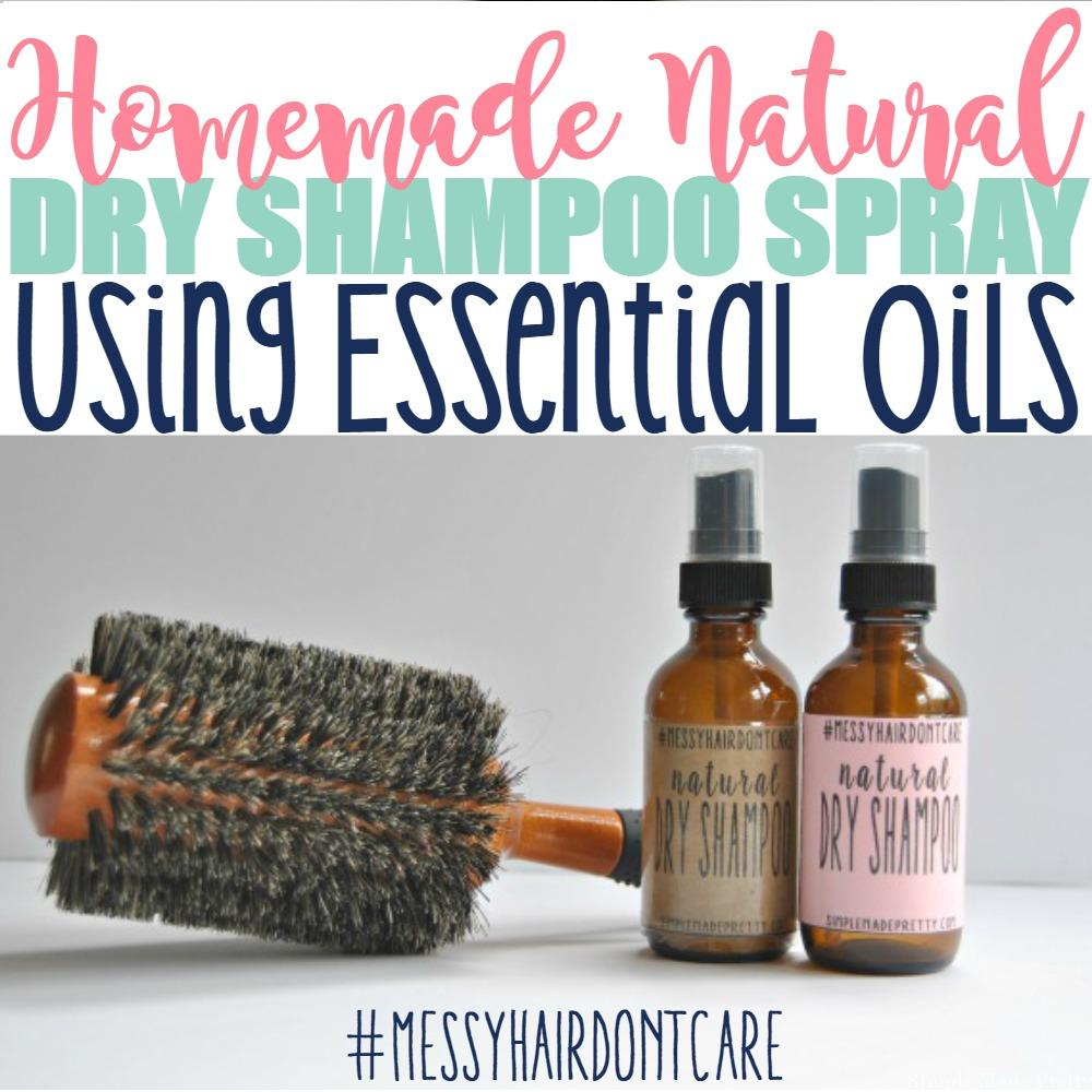 As a busy mom, I use dry shampoo 5 days a week. It makes my life easier so I can skip washing, drying, and styling my hair every day. I decided to make my own dry shampoo spray (since I'm addicted to using essential oils for everything else, it only made sense to make my own dry shampoo spray). This Homemade All-Natural Dry Shampoo Spray Using Essential Oils will change the way you look at using toxic, chemical-filled dry shampoo spray going forward. If you take the time to look at the ingredients on some of your beauty products, I bet you will find ingredients that aren't natural. It makes my skin crawl that many hair and beauty products are loaded with chemicals (also that they are so expensive to buy when you can easily make them at home for dirt cheap!).