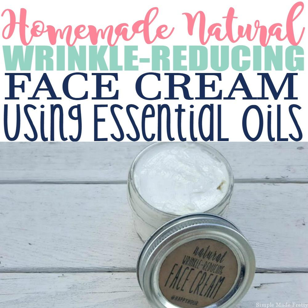 This Homemade Natural Wrinkle-Reducing Face Cream Using Essential Oils will change the way you look at using toxic, chemical-filled beauty products going forward. If you take the time to look at the ingredients on some of your beauty products, I bet you will find ingredients that aren't natural. Download the face cream free printable labels in my free ebook, 5 all-natural skin care solutions using essential oils!