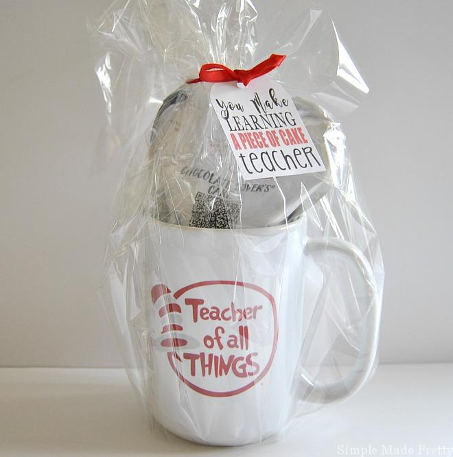 Mug Cake Gift Idea Free Printable Tag DIY Gift