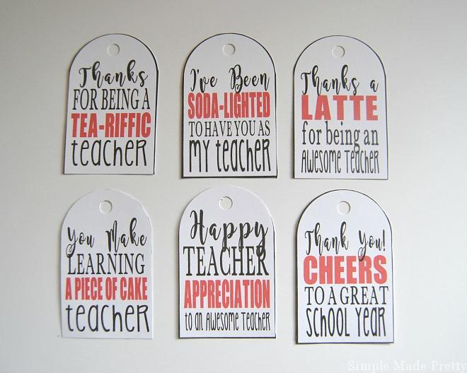 picture about Free Printable Teacher Appreciation Tags called 5 Do it yourself Instructor Mug Reward Programs with Totally free Printables - Uncomplicated