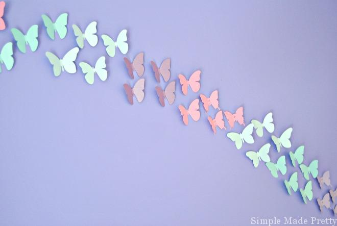 Cricut explore cut butterflies girls bedroom