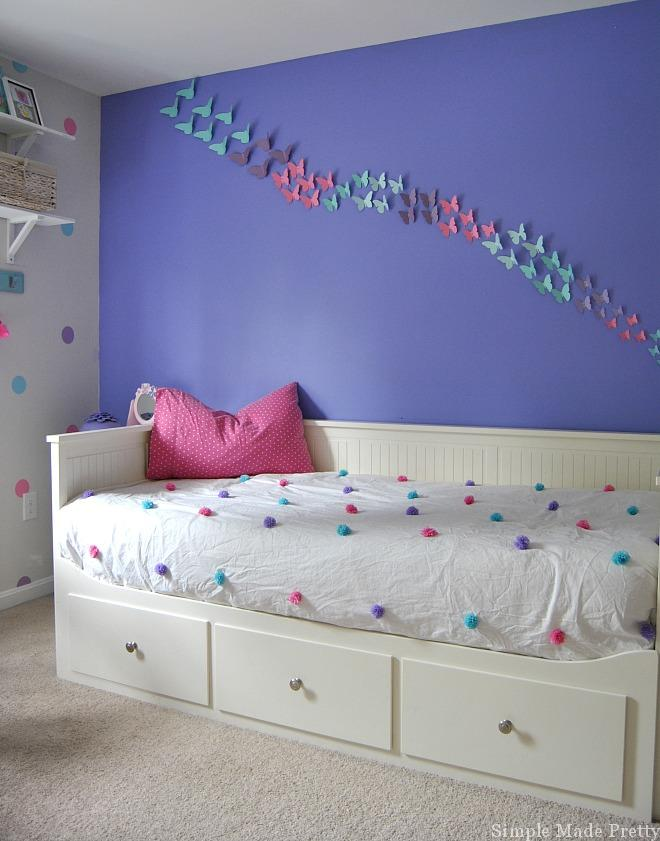 Girls bedroom home decor that you can diy on a budget simple made pretty - Purple and pink girls bedroom ...