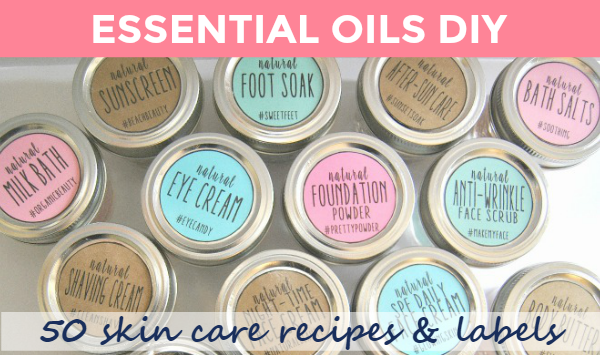 50 skin care recipes using essential oils