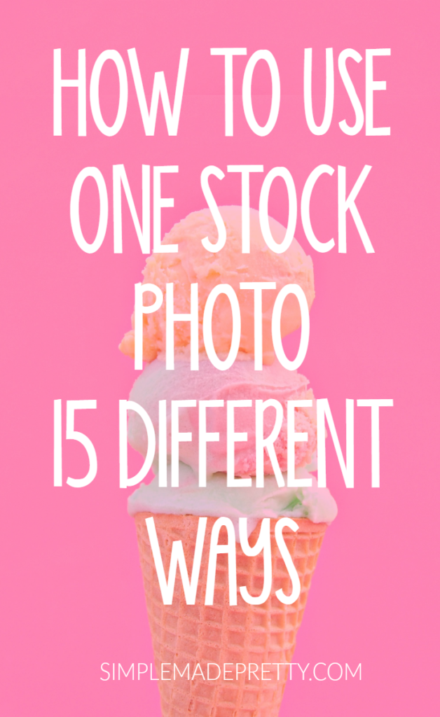 Wow! I had no idea I could use 1 stock photo for different images for my blog! This post was so helpful! I was having issues coming up with images for my blog and now I don't have to because I can use the same photo over and over! She even tells you where to find FREE stock photos!