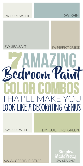 These bedroom paint colors created a natural atmosphere. I love these neutral bedroom paint colors in our guest room. I'm planning on using these neutral paint colors in our living room too!