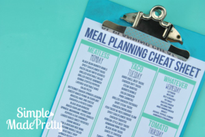 Meal Planning 101: Create a Cheat Sheet
