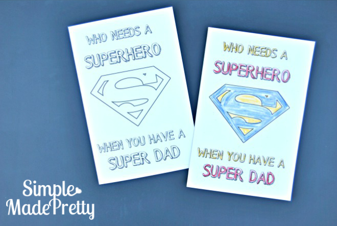Free Printable Father S Day Greeting Cards Coloring Craft For Kids
